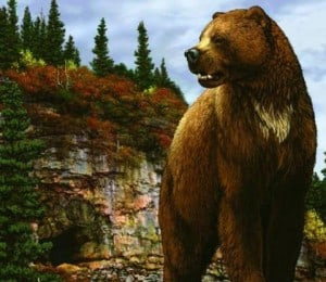 oso gigante, animal prehistórico