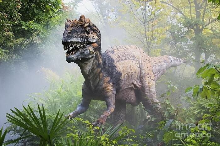 Dibujo de un Metriacanthosaurus