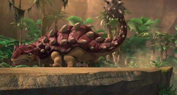 Hábitat natural del Ankylosaurus